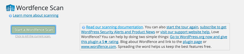 Wordfence-scan-page