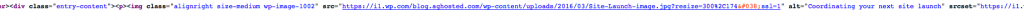 Screenshot of optimized HTML