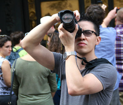 Paul takes photos during retreat