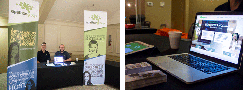 Agathon Group table at BloggyCon 2016
