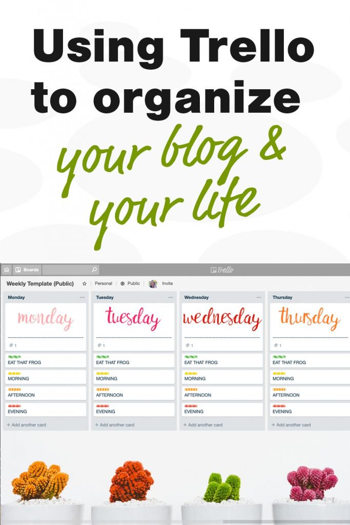 Using Trello to organize your blog and your life