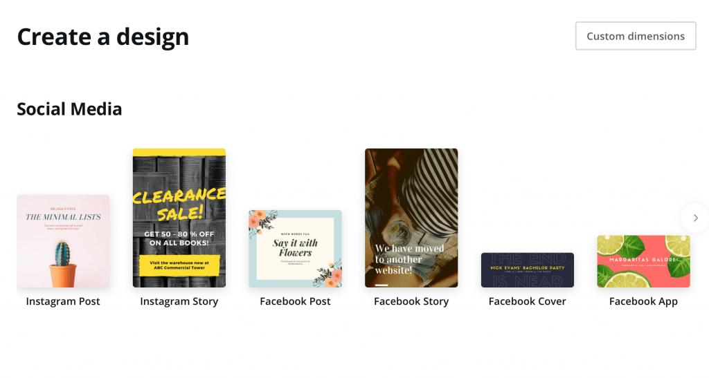 Create a design in Canva