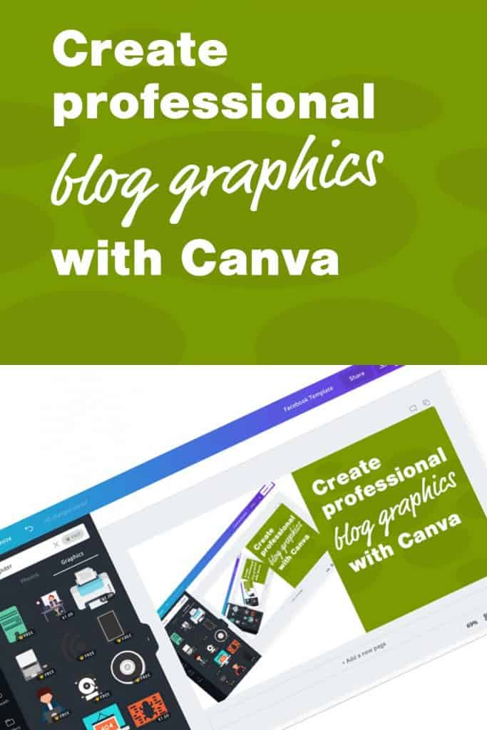 Create professional blog graphics with canva
