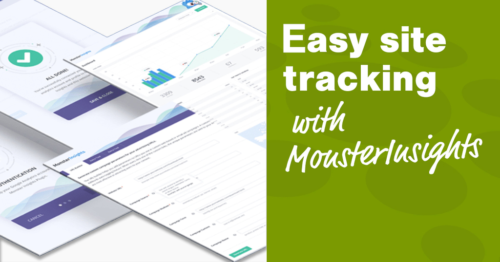 Site tracking with MonsterInsights plugin