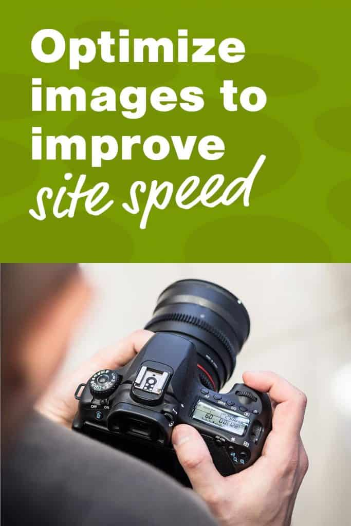 Optimize images  to improve site speed