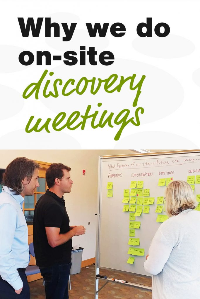 Why we do on-site discovery meetings
