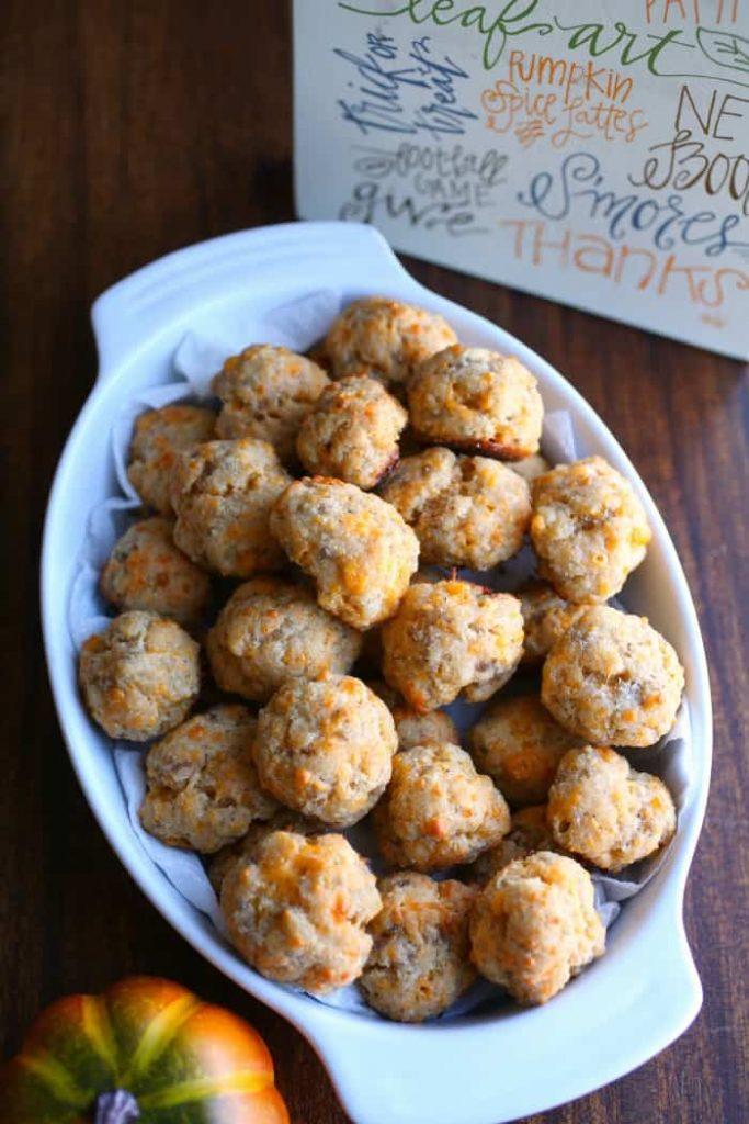 Keto Coconut Flour Sausage Balls from Shasta at Keto Size Me