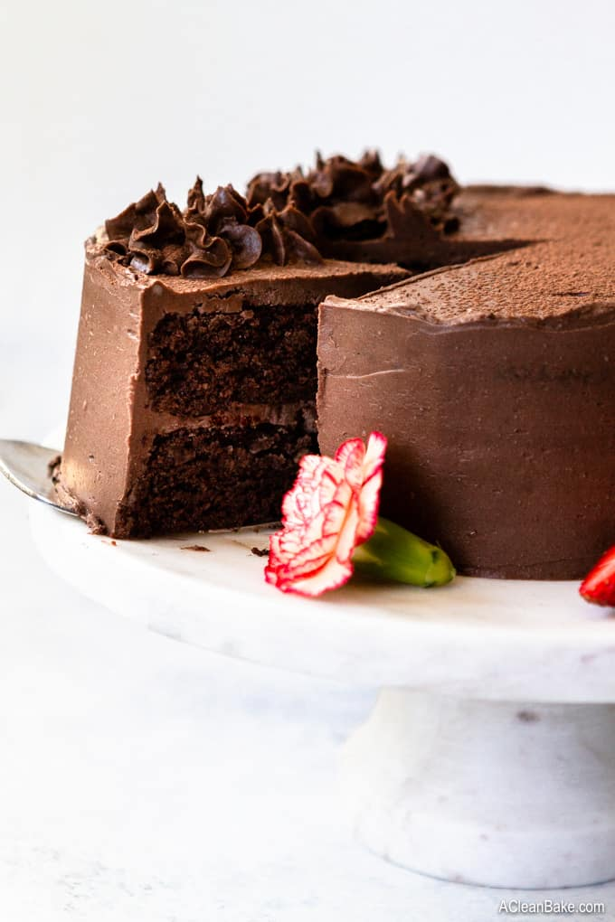 Death by Paleo Chocolate Cake by  Nora at A Clean Bake