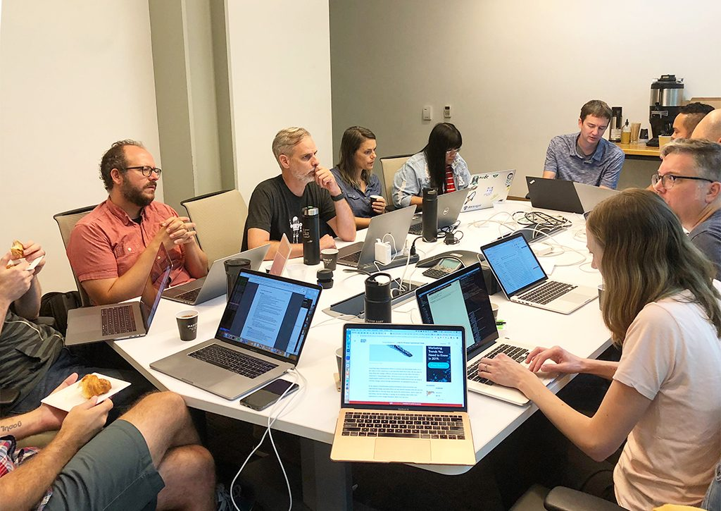 Agathon co-working time in Grand Rapids (September 2019)