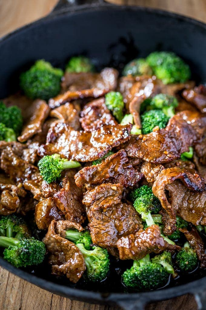Keto Low Carb Beef and Broccoli from Sheena at Noshtastic