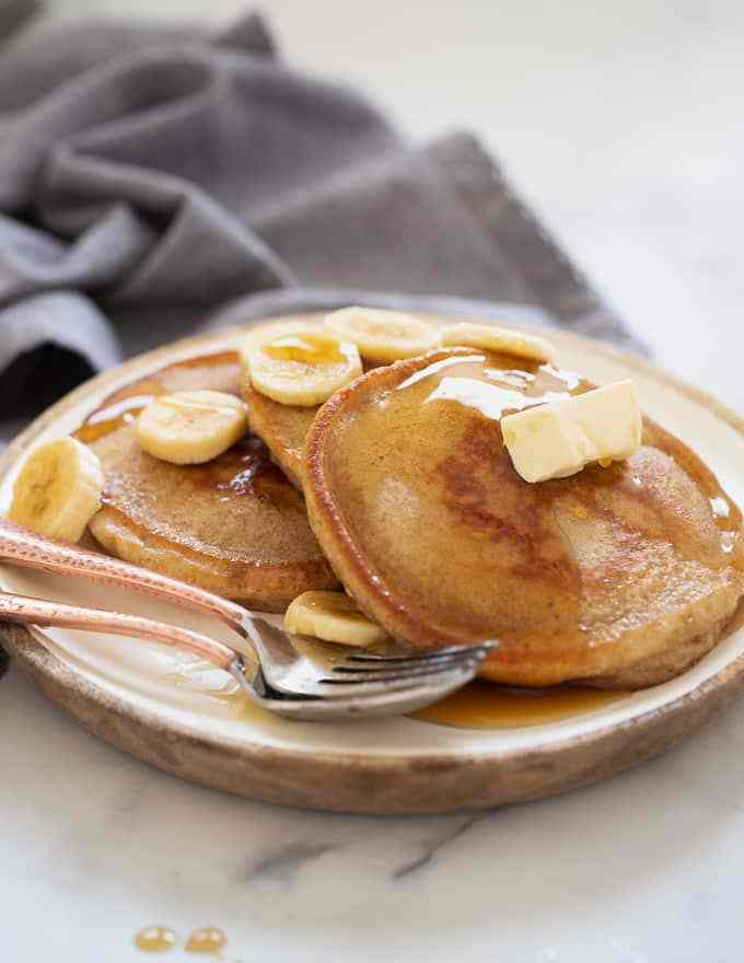 The Best Vegan Banana Pancakes from Melanie at A Virtual Vegan