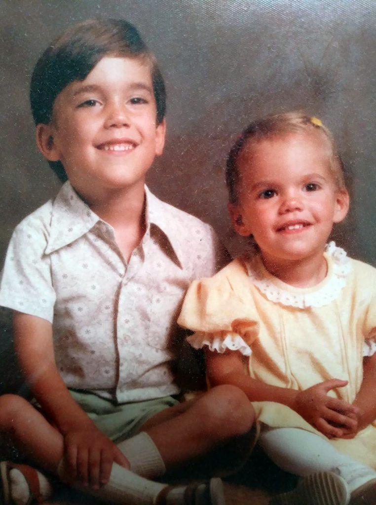 Rachel & Peter when they were little