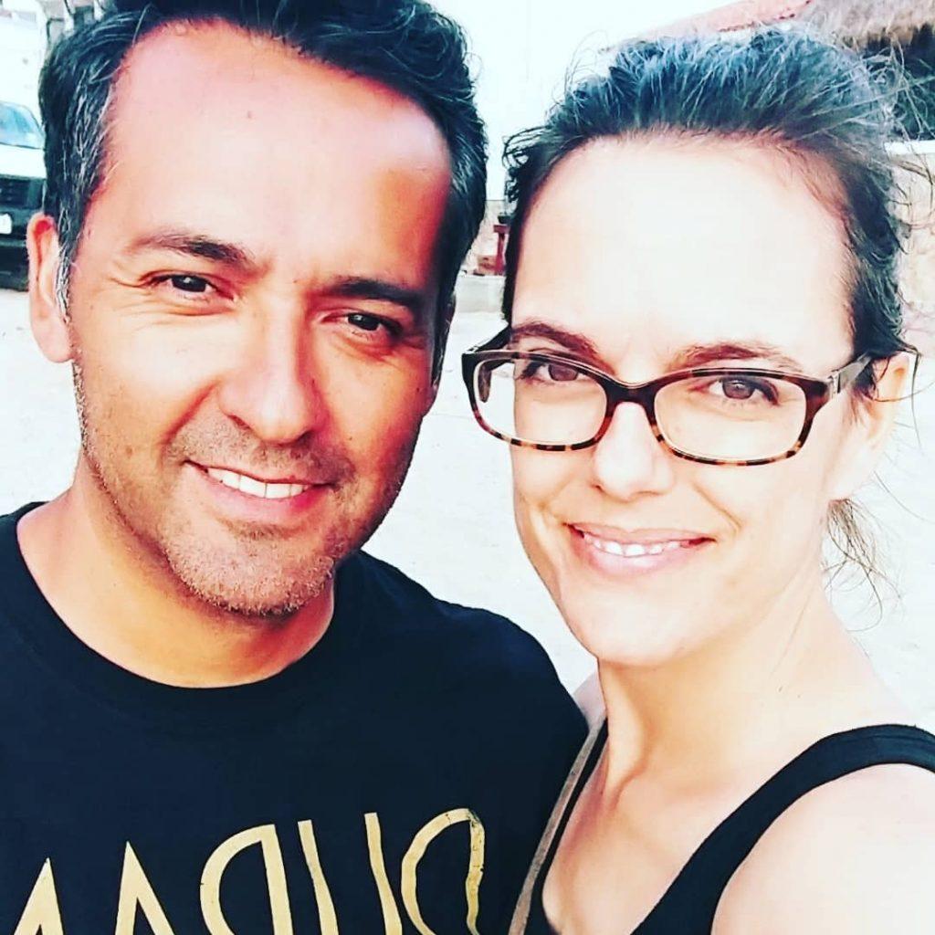 Rachel with her husband, Hector
