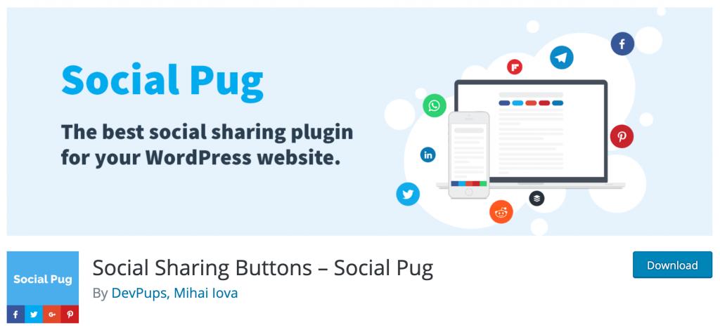 Social Sharing Buttons - Social Pug