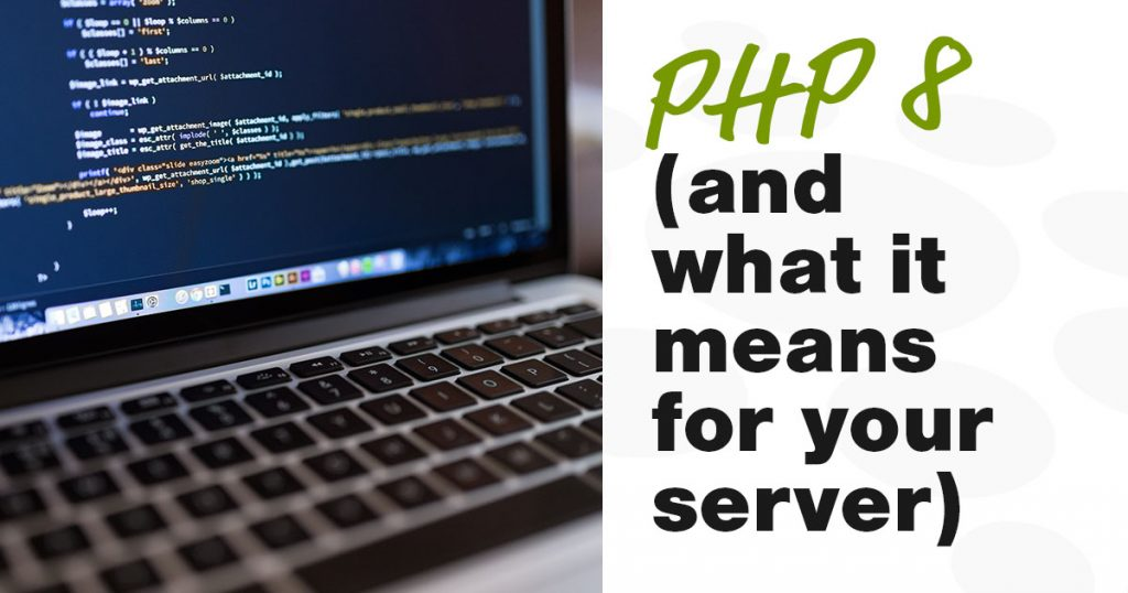 A close up of a MacBook screen with PHP code displayed